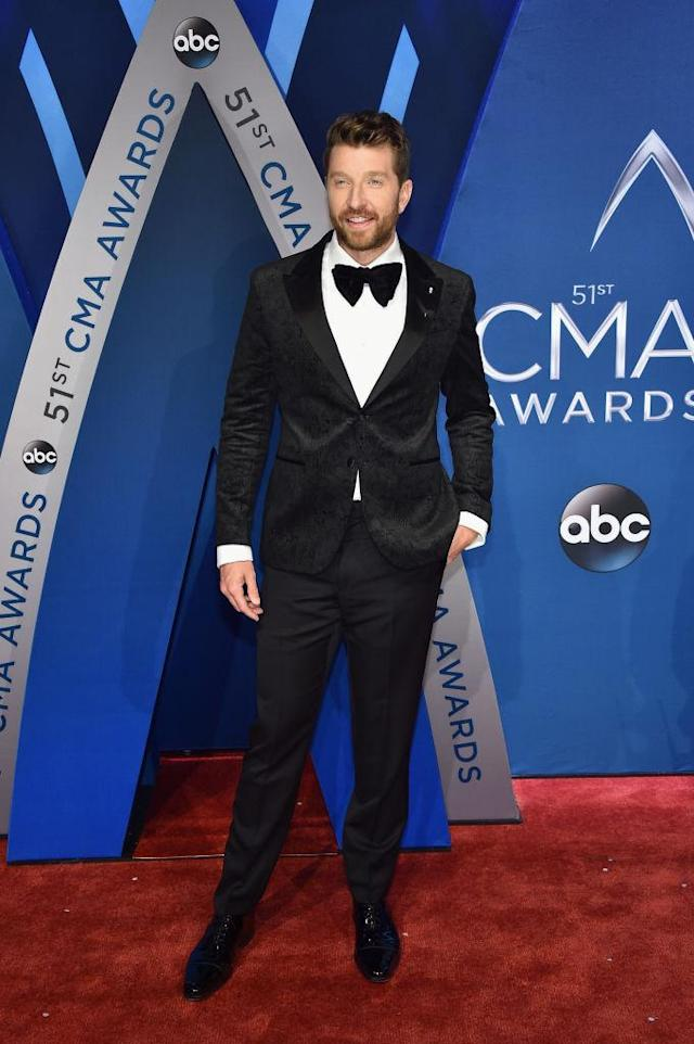 <p>The singer looks dapper in a big bow tie. (Photo: Getty Images) </p>