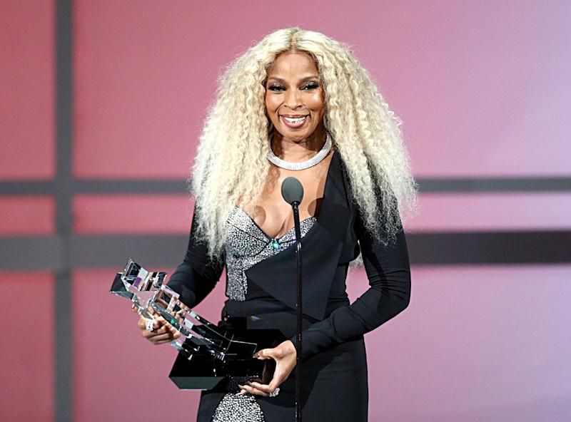 Music superstar Mary J. Blige, seen accepting a lifetime achievement award at the BET Awards in June, will star in a 'Power' spinoff series, 'Power Book II: Ghost,' Starz announced Friday.