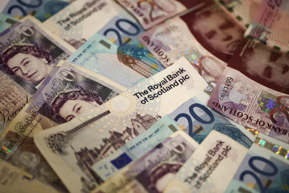 Scottish Bank notes aren't actually legal tender! Getty Images