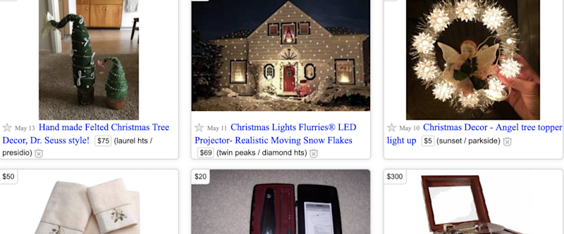 Christmas stuff on Craigslist