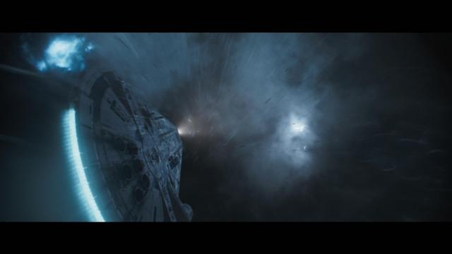 The Millennium Falcon heads into the great unknown… or maybe the Kessel Run? (Photo: Disney/Lucasfilm)