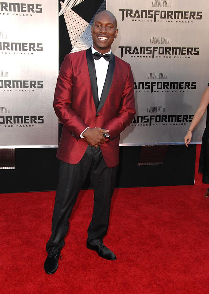 "<a href=""http://movies.yahoo.com/movie/contributor/1804500453"">Tyrese Gibson</a> at the Los Angeles premiere of <a href=""http://movies.yahoo.com/movie/1809943432/info"">Transformers: Revenge of the Fallen</a> - 06/22/2009"