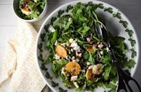 """<p>It doesn't get more seasonal than this arugula salad. The harmonious combination of orange slices, pomegranate arils, pumpkin seeds and crumbled feta is seamlessly tied together with a red wine vinegar and honey dressing. </p> <p><a href=""""https://www.thedailymeal.com/recipes/arugula-orange-and-pomegranate-salad-recipe?referrer=yahoo&category=beauty_food&include_utm=1&utm_medium=referral&utm_source=yahoo&utm_campaign=feed"""" rel=""""nofollow noopener"""" target=""""_blank"""" data-ylk=""""slk:For the Arugula, Orange and Pomegranate Salad recipe, click here."""" class=""""link rapid-noclick-resp"""">For the Arugula, Orange and Pomegranate Salad recipe, click here.</a></p>"""