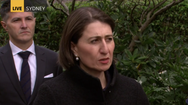 Gladys Berejiklian made the annoucement on Friday afternoon. Source: ABC