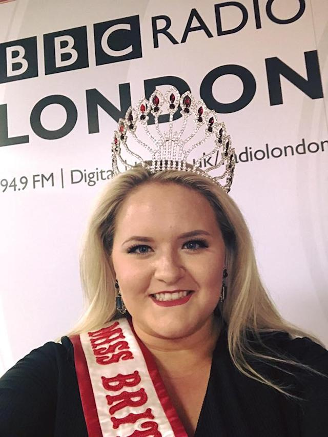"""Emily Diapre was once a thinballerina … and miserable. Now she's a six-sizes-biggerbeauty queen and """"ecstatic"""" about it. (Photo: Facebook)"""