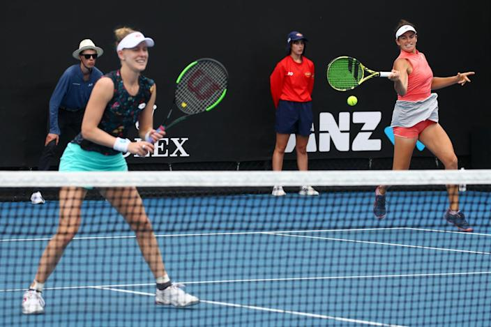 <p>Though Brady didn't advance to a singles semifinal round at a Grand Slam until 2020, she and her partner Alison Riske made it through to the doubles semifinals at the Australian Open in 2019. Separately, Brady made it to the Australian Open quarterfinals in doubles the year prior as well as in 2020.</p>