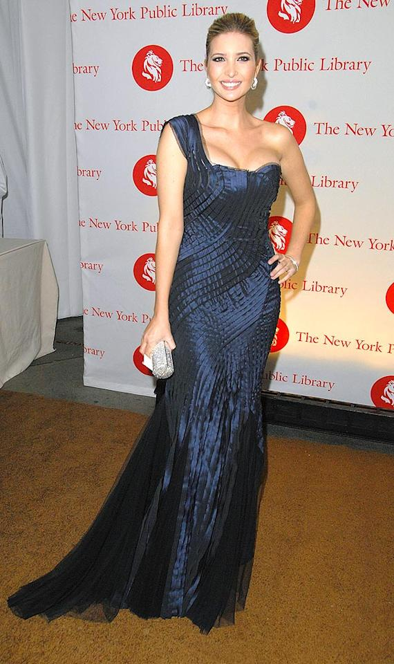 """Ivanka Trump couldn't have looked any lovelier than she did when she sported this layered Alberta Ferretti one-shoulder gown and diamond baubles. Joe Corrigan/<a href=""""http://www.gettyimages.com/"""" target=""""new"""">GettyImages.com</a> - November 3, 2008"""