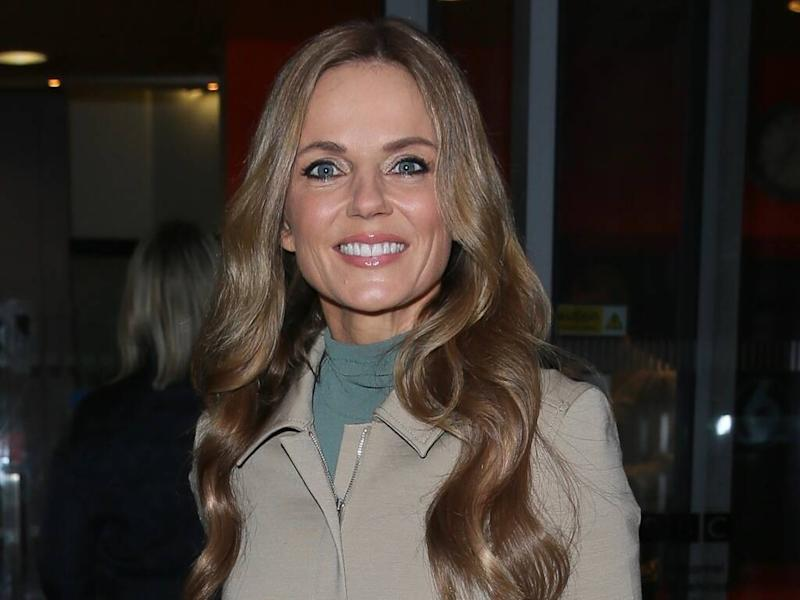 Geri Horner used tea towel to create first Union Jack dress