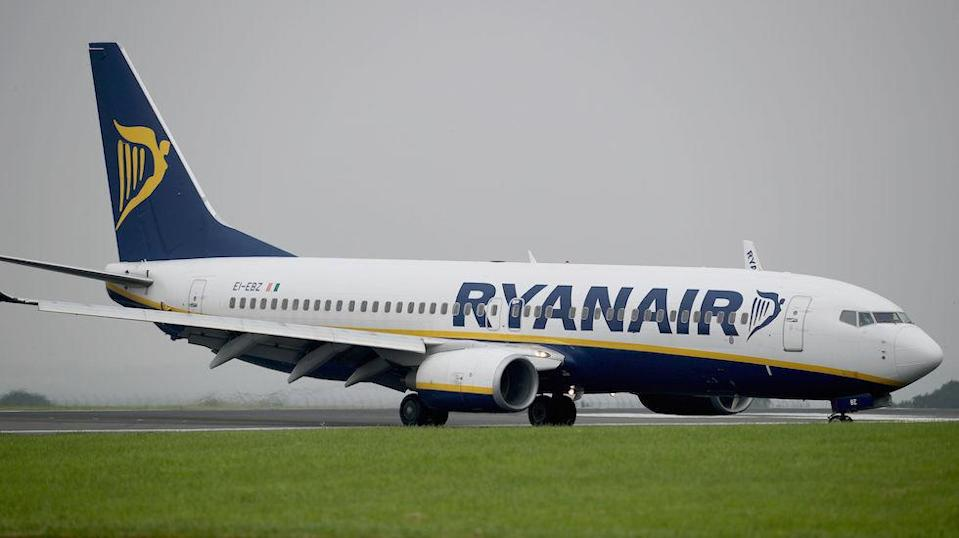 Ryanair said it had reported the incident to UK police (Picture: PA)