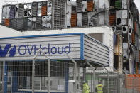 The OVH data center is seen in Strasbourg, eastern France, Thursday, March 11, 2021. A fire broke out on Wednesday in a room of one of the 4 OVH cloud data center affecting websites in several European countries. The origin of this fire is being investigated and no injuries are to be deplored. (AP Photo/Jean-Francois Badias)