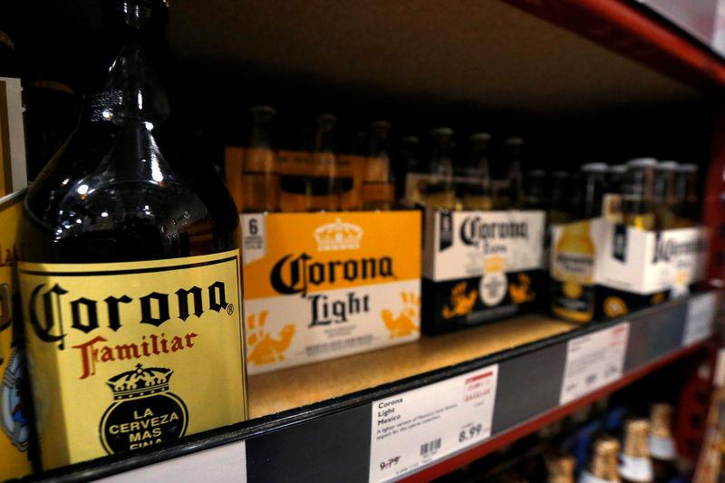 FILE PHOTO: Corona beers are pictured at a BevMo! store ahead of Constellation Brands Inc company results in Pasadena