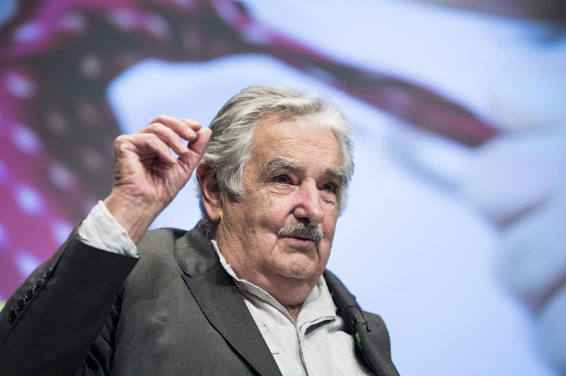 Uruguayan President Jose Mujica speaks at the World Bank on May 14, 2014 in Washington