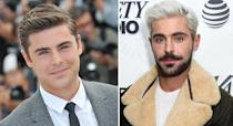 <p>The 'High School Musical' actor went from boy next door to rockstar thanks to a bottle of peroxide which he paired with contrasting dark facial hair. <em>[Photo: Getty]</em> </p>