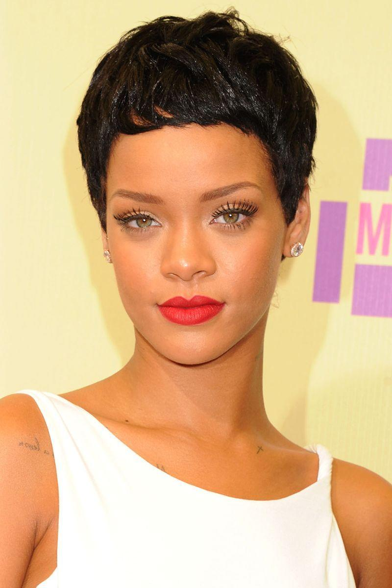 <p>Rihanna can wear anything, but one of our favorite looks of hers is this pretty and chic pixie cut. Should she decide to go back to this, we're all for it. </p>