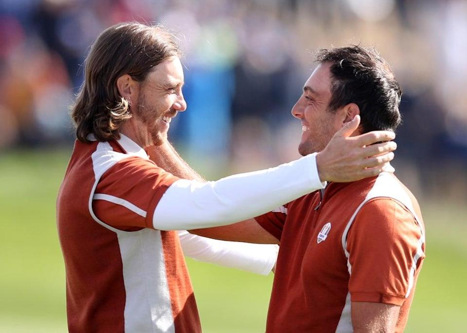 Tommy Fleetwood (left) and Francesco Molinari won all four of their matches in Paris in 2018 (Adam Davy/PA) (PA Archive)