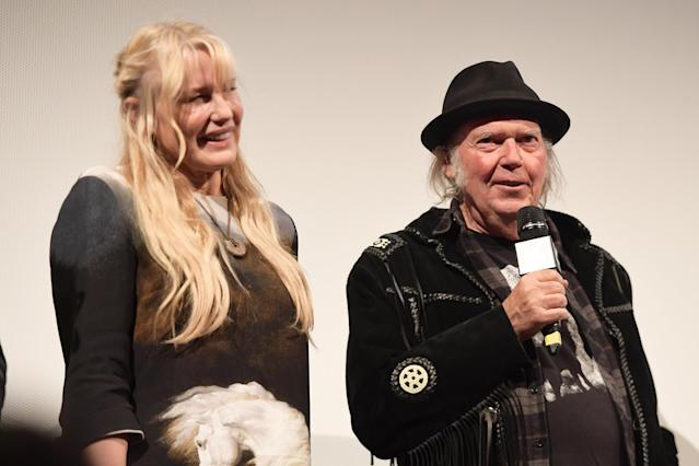 Neil Young with his wife, actress Daryl Hannah (Matt Winkelmeyer/Getty Images for SXSW)