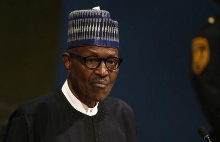 Nigerian President Buhari addresses the 72nd United Nations General Assembly at U.N. headquarters in New York