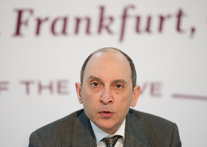 Group Chief Executive of state-owned flag carrier Qatar Airways, Akbar Al Baker addresses a press conference on the airline's first Airbus A350 XWB aircraft arriving at the airport in Frankfurt am Main, western Germany on January 15, 2015 (AFP Photo/Christoph Schmidt)