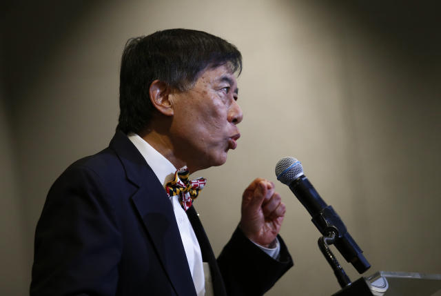 University of Maryland president Wallace Loh speaks at a news conference held to address the school's football program and the death of offensive lineman Jordan McNair, who collapsed on a practice field and subsequently died. (AP)