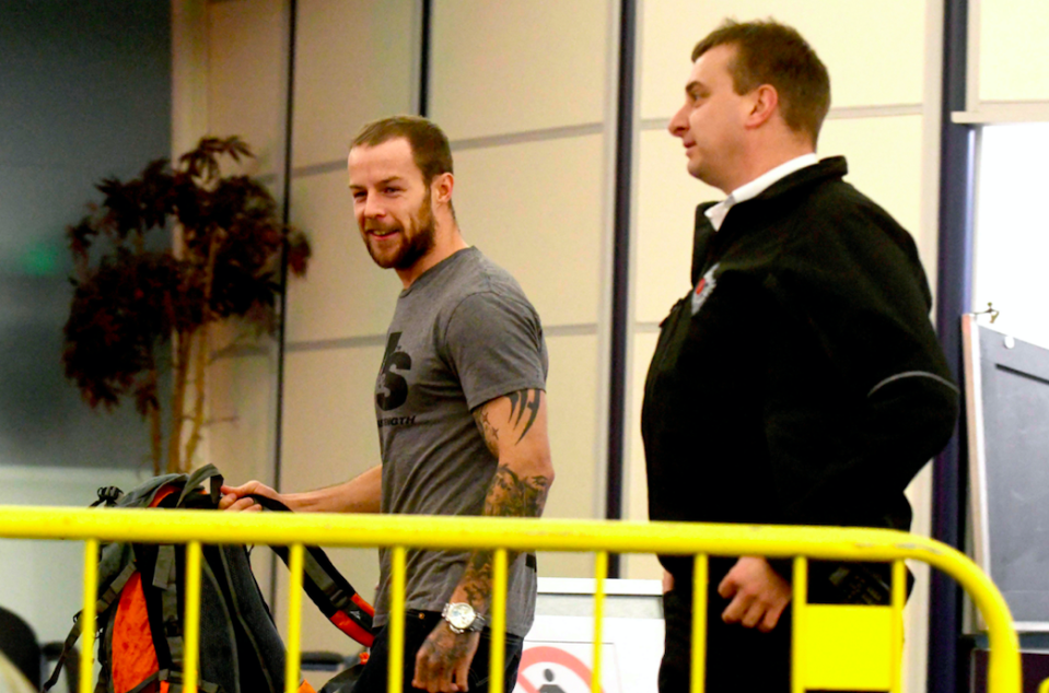 Dale McLaughlan was pictured boarding a ferry back home after he was released from jail. (Getty)