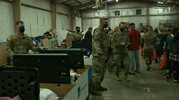 Afghan refugees housed at Fort McCoy in Wisconsin.