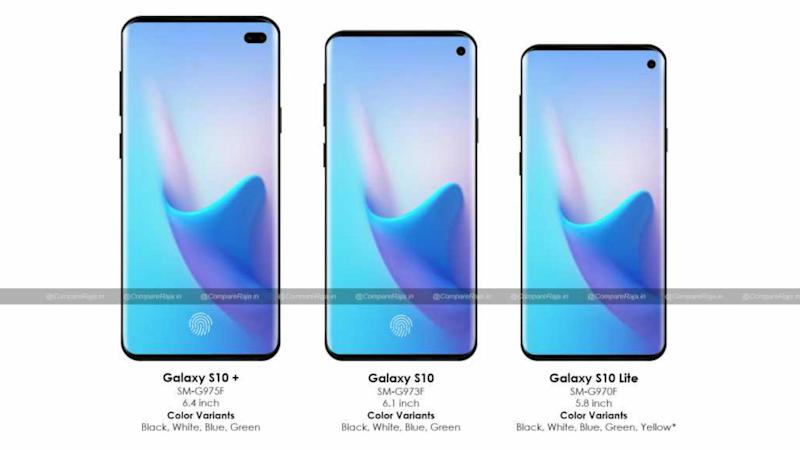 Samsung s10 series leakeak specifications: Image: CompareRaja