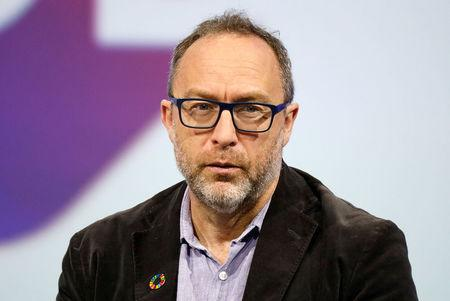 FILE PHOTO: Wikipedia co-founder Jimmy Wales attends the Viva Tech start-up and technology summit in Paris