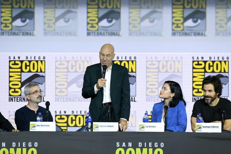 """Patrick Stewart said he was """"deliriously happy"""" to be returning to """"Star Trek"""" (AFP Photo/KEVIN WINTER)"""