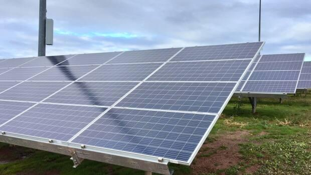 Summerside is already operating a smaller solar farm outside of Credit Union Place.  (Tom Steepe/CBC - image credit)