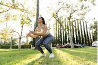 """<p>While the old thinking was that <a href=""""https://www.prevention.com/fitness/fitness-tips/a26572300/liss-cardio/"""" rel=""""nofollow noopener"""" target=""""_blank"""" data-ylk=""""slk:steady-state cardio"""" class=""""link rapid-noclick-resp"""">steady-state cardio</a> sessions were best for burning fat, we now know that short and intense bursts of fast-paced cardio is much more effective. Hope Pedraza, an ACSM personal trainer and the creator of <a href=""""https://www.inbalancestudios.com/author/hopein/"""" rel=""""nofollow noopener"""" target=""""_blank"""" data-ylk=""""slk:inBalance"""" class=""""link rapid-noclick-resp"""">inBalance</a>, a San Antonio-based fitness and wellness studio, suggests doing intervals that alternate between exercises that work different muscle groups. </p><p><strong>Try this HIIT workout:</strong> After a 10-minute warm-up, spend 30 seconds doing as many reps as possible of <a href=""""https://www.prevention.com/fitness/workouts/g28422315/squat-variations/"""" rel=""""nofollow noopener"""" target=""""_blank"""" data-ylk=""""slk:squats"""" class=""""link rapid-noclick-resp"""">squats</a>, <a href=""""https://www.prevention.com/fitness/workouts/g28214653/push-up-variations/"""" rel=""""nofollow noopener"""" target=""""_blank"""" data-ylk=""""slk:push-ups"""" class=""""link rapid-noclick-resp"""">push-ups</a>, kettlebell swings, or single-arm rows. Then, rest for 30 seconds and do a different exercise for another 30 seconds. Continue for 10 rounds. Choose any of your favorite exercises—just make sure you alternate between exercises that work different muscle groups, which will help certain muscles recover while you work others. </p>"""