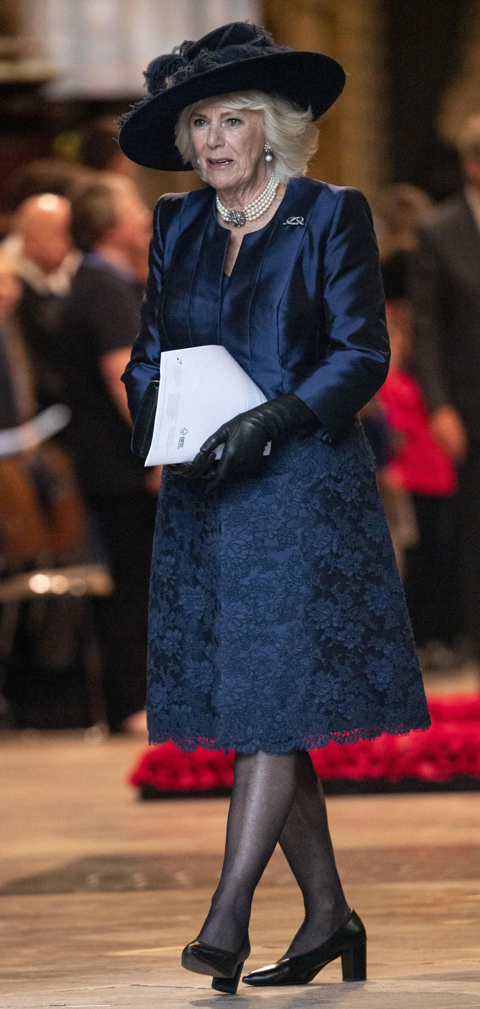 LONDON, ENGLAND - MARCH 09: Camilla, Duchess of Cornwall attends the Commonwealth Day Service 2020 at Westminster Abbey on March 9, 2020 in London, England. (Photo by Mark Cuthbert/UK Press via Getty Images)