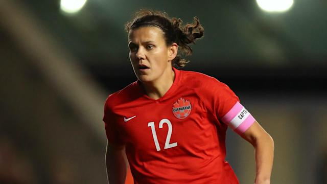 Christine Sinclair's international goal haul now stands at 185, a new record.