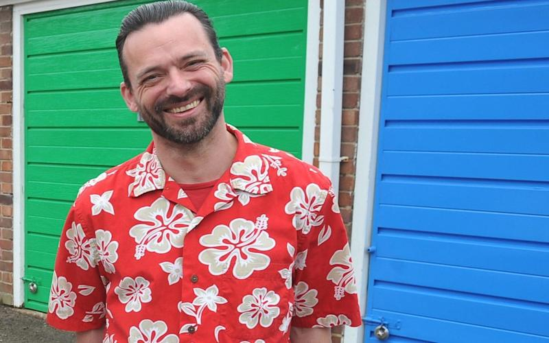 Rich Wilson believeshe was racially abused by a gang of four youths in because he was wearing an Hawaiian shirt - Hull Daily Mail / SWNS.com