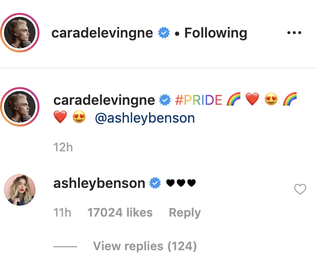 The two made it official on Instagram.