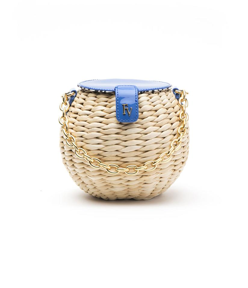 "<p>Honeypot Basket Royal, $195, <a rel=""nofollow"" href=""https://francesvalentine.com/shop/honeypot-basket-royal"">francesvalentine.com</a>. </p>"