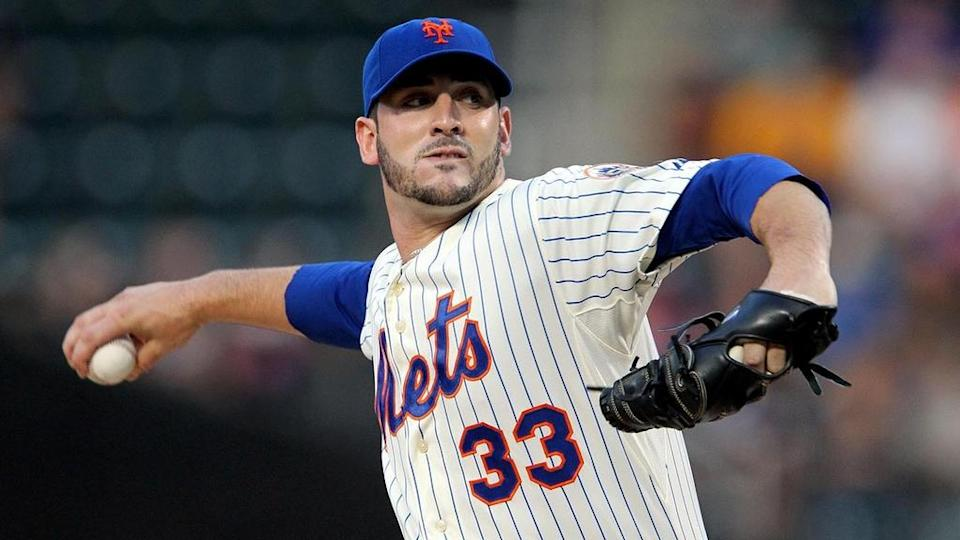 August 22, 2012; New York, NY, USA; New York Mets pitcher Matt Harvey (33) throws a pitch during the first inning of a game against the Colorado Rockies at Citi Field.