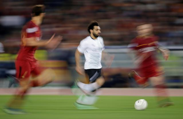 Soccer Football - Champions League Semi Final Second Leg - AS Roma v Liverpool - Stadio Olimpico, Rome, Italy - May 2, 2018 Liverpool's Mohamed Salah in action REUTERS/Max Rossi