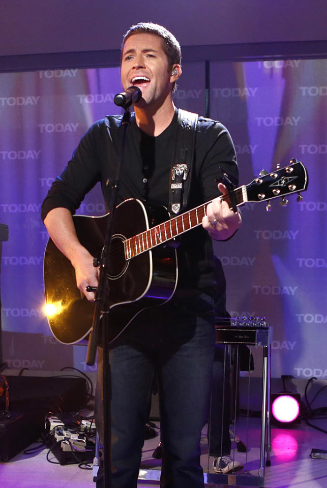 """The dark hair, the megawatt smile, and those baby blues — Josh Turner is a looker! The """"Firecracker"""" singer recently <a target=""""_blank"""" href=""""https://twitter.com/joshturnermusic/status/243101678184828928/photo/1"""">tweeted a pic</a> of himself with a fan that proves women of all ages have noticed. """"Me & an 88 yr old lady. It was her first concert, married for 71 yrs, & her shirt says The Future Mrs Josh Turner LOL!"""" he wrote."""