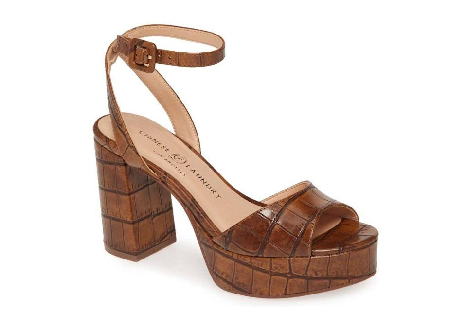 Chinese Laundry, Theresa Platform Sandal, Brown Heels