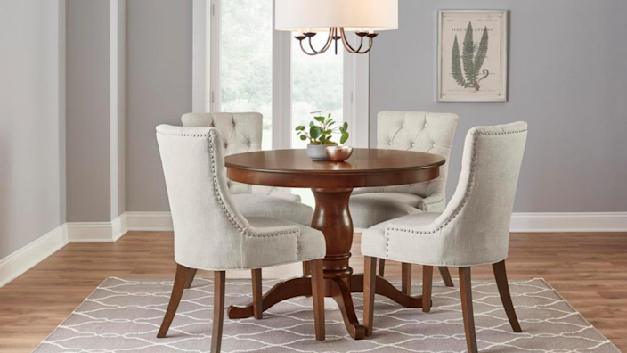 This chair is great for dining, but it's also classy enough to spruce up an office.