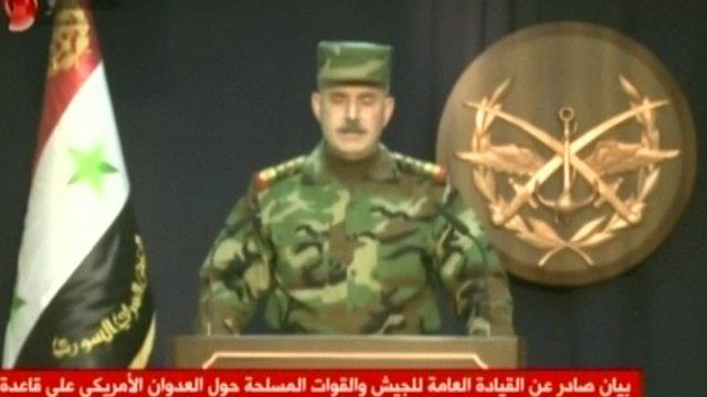 Syrian army official condemns US missile strikes