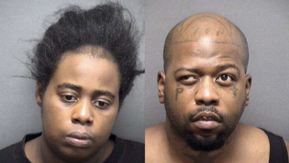 Lakendra Williams, 30, and Walter Hawthorne, 24 pictured in mugshots.