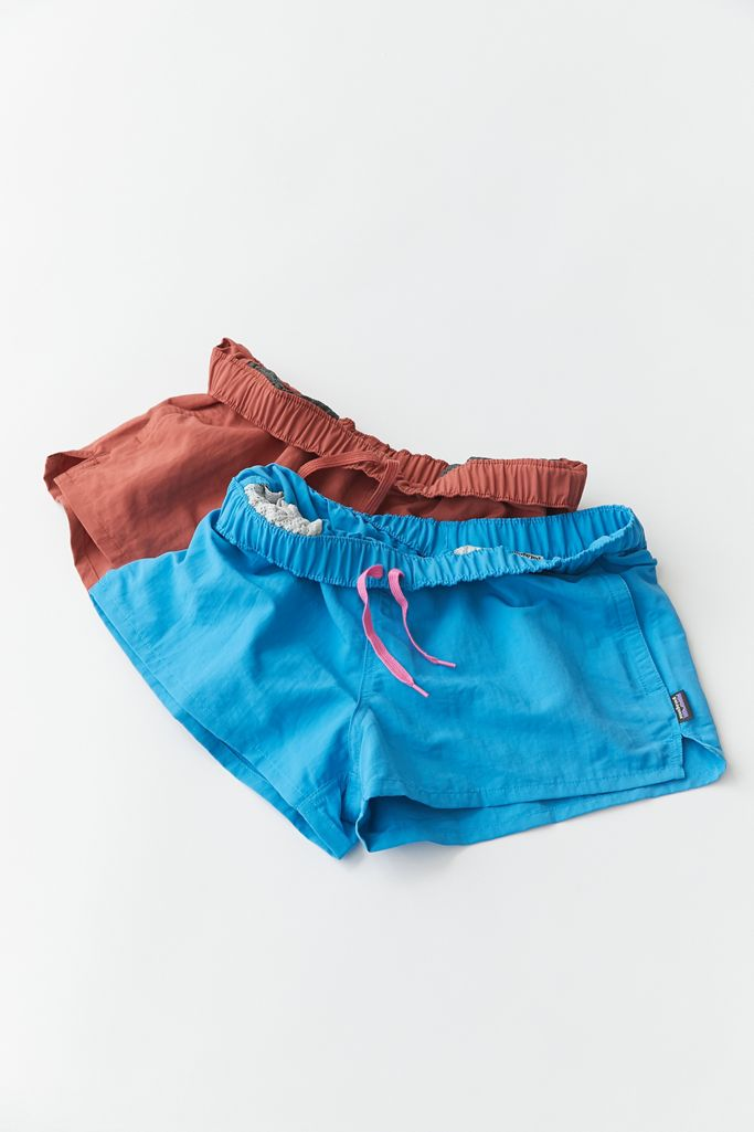"""It's no wonder that the Baggies are a Patagonia best seller. <br> <br> <strong>Patagonia</strong> Barely Baggies Short, $, available at <a href=""""https://go.skimresources.com/?id=30283X879131&url=https%3A%2F%2Fwww.urbanoutfitters.com%2Fshop%2Fpatagonia-barely-baggies-short2%3Fcategory%3Dwomens-bottoms%26color%3D040%26type%3DREGULAR%26quantity%3D1"""" rel=""""nofollow noopener"""" target=""""_blank"""" data-ylk=""""slk:Urban Outfitters"""" class=""""link rapid-noclick-resp"""">Urban Outfitters</a>"""