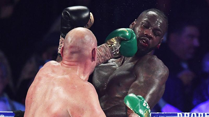 Seen here, Deontay Wilder cops punishment from Tyson Fury before his 7th round defeat.
