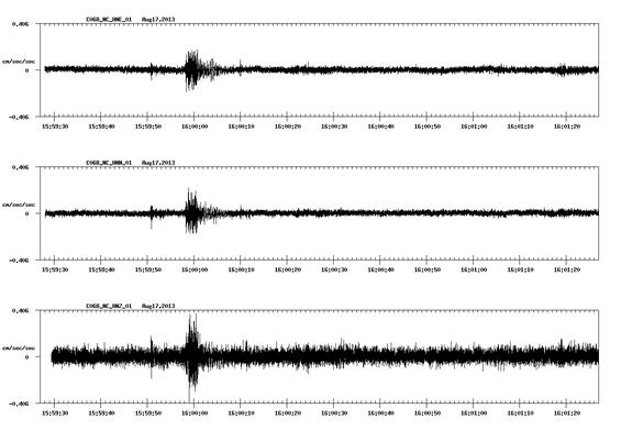 As Warren Hall imploded on the campus of Cal State East Bay in Hayward, Calif., a seismometer at the university picked up vibrations from the destruction.