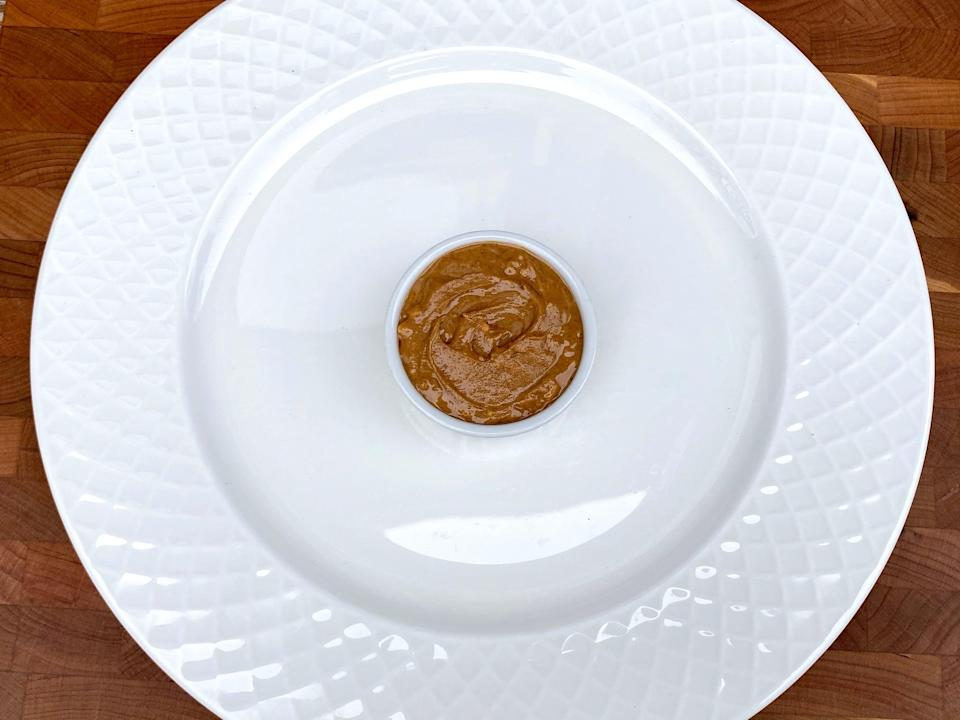 <p>2 tablespoons of peanut butter</p>
