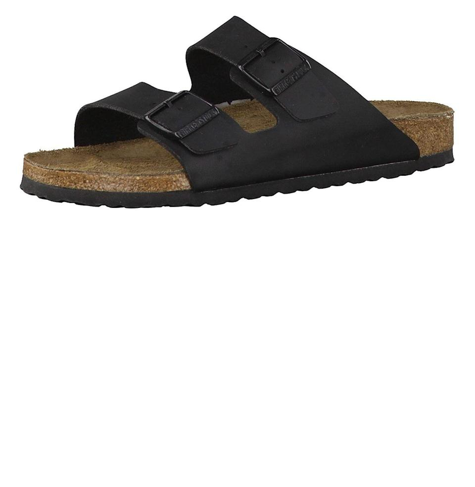 """<p><strong>Birkenstock</strong></p><p>amazon.com</p><p><strong>$72.97</strong></p><p><a href=""""https://www.amazon.com/dp/B00APYOA48?tag=syn-yahoo-20&ascsubtag=%5Bartid%7C10054.g.19735637%5Bsrc%7Cyahoo-us"""" rel=""""nofollow noopener"""" target=""""_blank"""" data-ylk=""""slk:Buy"""" class=""""link rapid-noclick-resp"""">Buy</a></p><p>For the dad whose summer footwear could use a seriously comfortable upgrade.</p>"""
