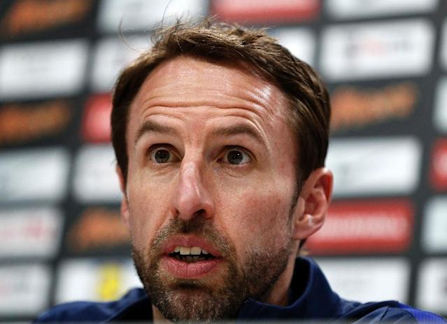 England's manager Gareth Southgate speaks during a press conference on March 25, 2017, ahead of their World Cup 2018 qualifier against Lithuania. (AFP Photo/ADRIAN DENNIS)