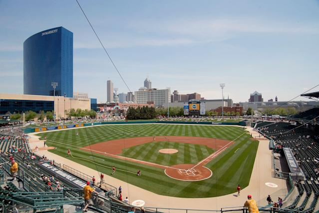 A young fan was hit by a foul ball at Victory Field on Sunday. (Photo by TMB/Icon Sportswire/Corbis via Getty Images)