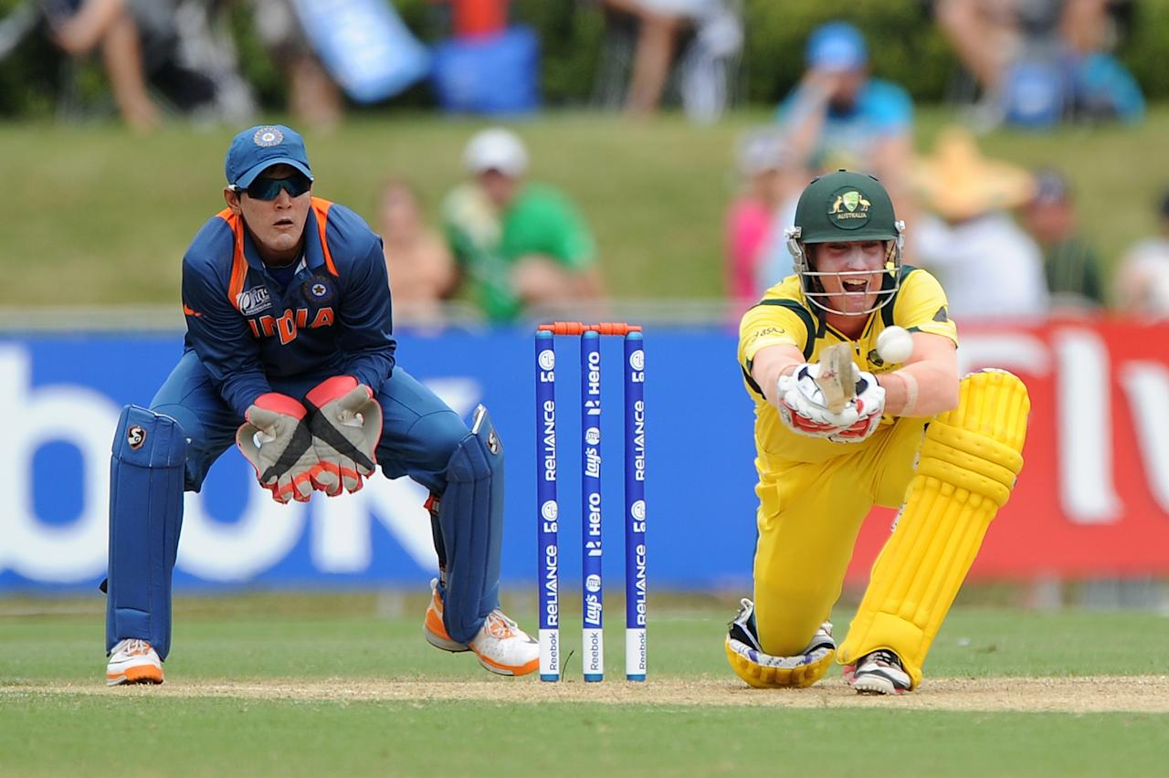 TOWNSVILLE, AUSTRALIA - AUGUST 26:  William Bosisto of Austalia bats during the 2012 ICC U19 Cricket World Cup Final between Australia and India at Tony Ireland Stadium on August 26, 2012 in Townsville, Australia.  (Photo by Matt Roberts/Getty Images)
